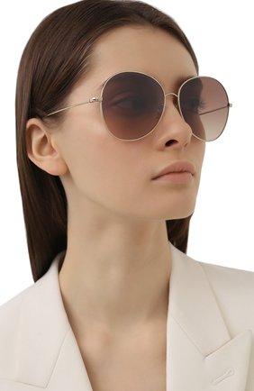 Женские солнцезащитные очки OLIVER PEOPLES коричневого цвета, арт. 1289S-5035Q1 | Фото 2