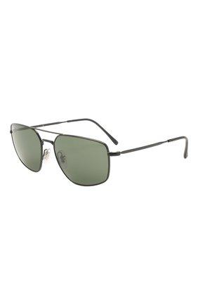 Мужские солнцезащитные очки RAY-BAN черного цвета, арт. 3666-002/31 | Фото 1