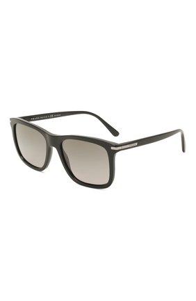Мужские солнцезащитные очки PRADA черного цвета, арт. 18WS-1AB09G   Фото 1