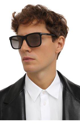 Мужские солнцезащитные очки PRADA черного цвета, арт. 18WS-1AB09G   Фото 2
