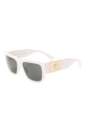 Женские солнцезащитные очки VERSACE белого цвета, арт. 4406-314/87 | Фото 1