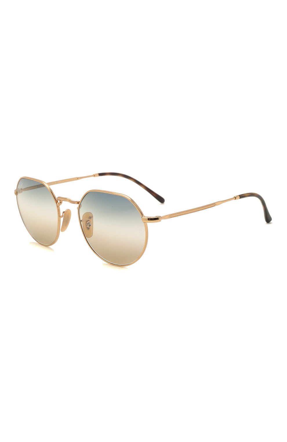 Женские солнцезащитные очки RAY-BAN золотого цвета, арт. 3565-001/GD | Фото 1