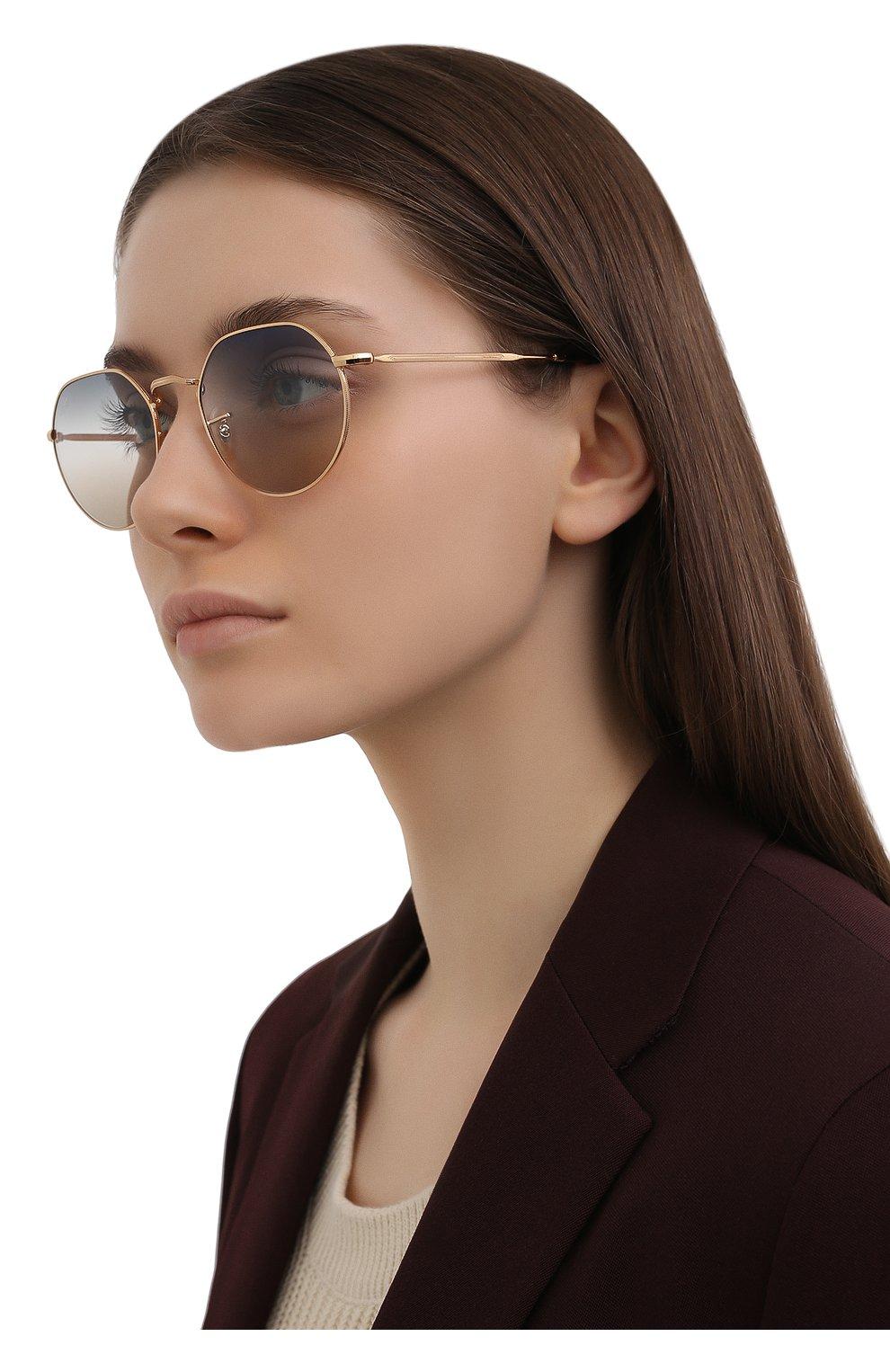 Женские солнцезащитные очки RAY-BAN золотого цвета, арт. 3565-001/GD | Фото 2