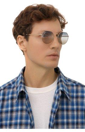 Женские солнцезащитные очки RAY-BAN золотого цвета, арт. 3565-001/GD | Фото 3