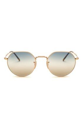 Женские солнцезащитные очки RAY-BAN золотого цвета, арт. 3565-001/GD | Фото 4