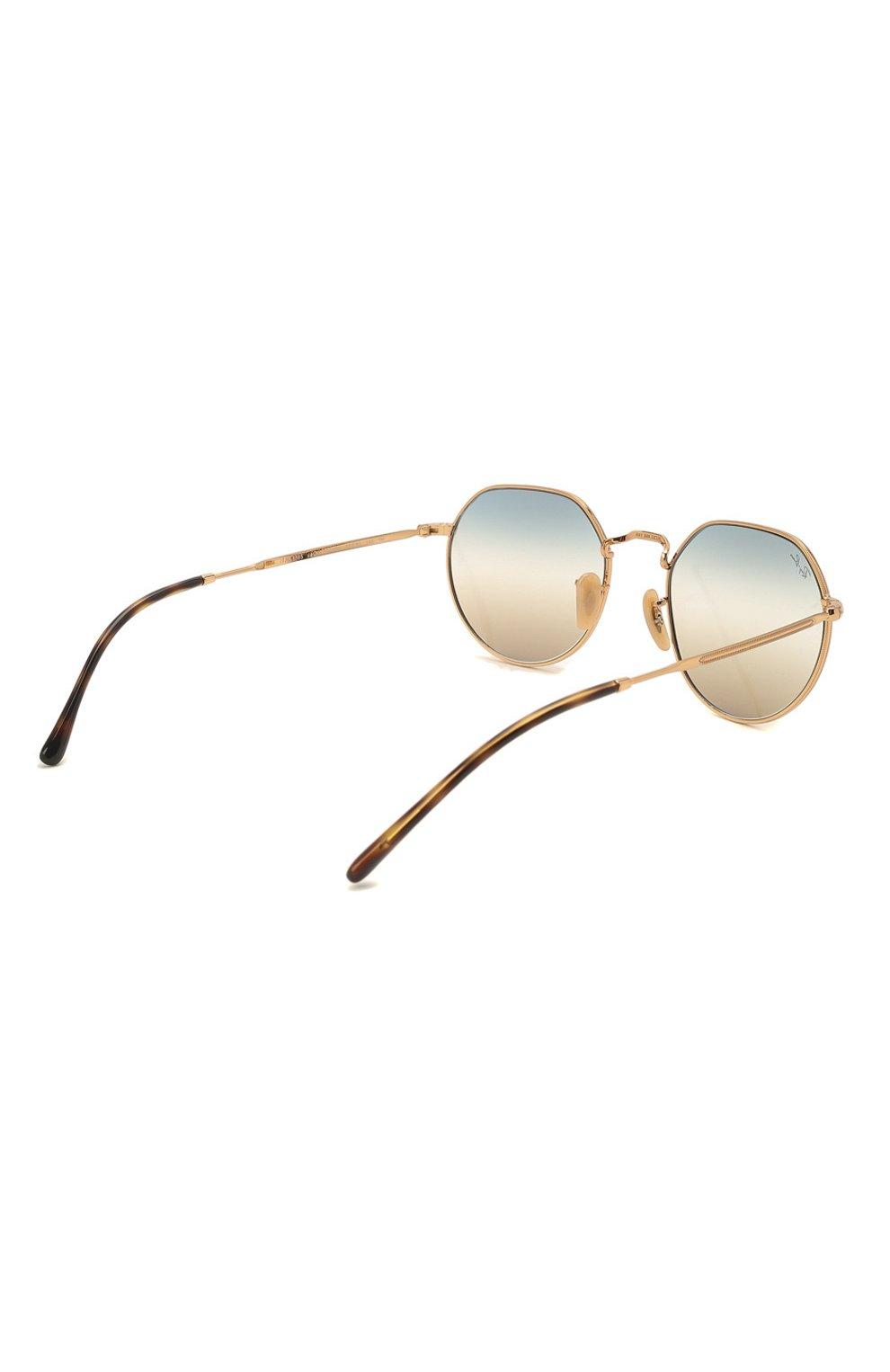 Женские солнцезащитные очки RAY-BAN золотого цвета, арт. 3565-001/GD | Фото 5