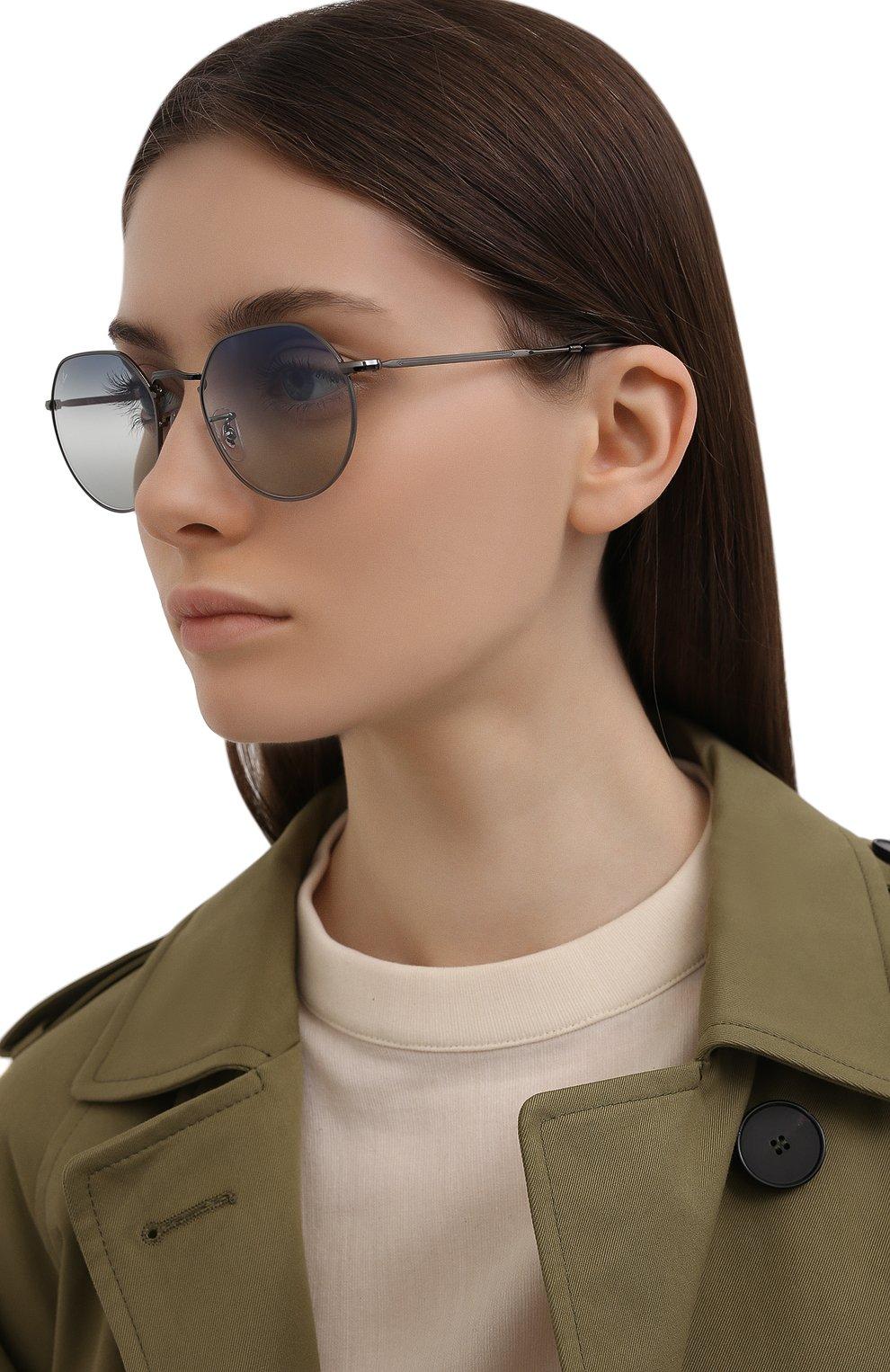 Женские солнцезащитные очки RAY-BAN синего цвета, арт. 3565-004/GF   Фото 2