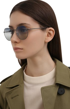 Женские солнцезащитные очки RAY-BAN синего цвета, арт. 3565-004/GF | Фото 2