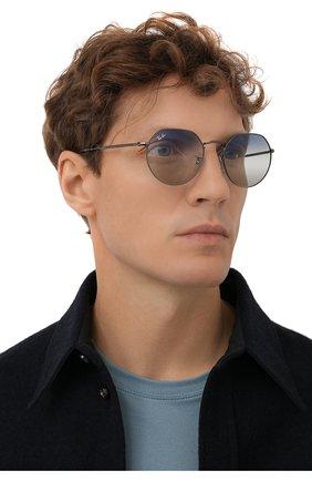 Женские солнцезащитные очки RAY-BAN синего цвета, арт. 3565-004/GF   Фото 3
