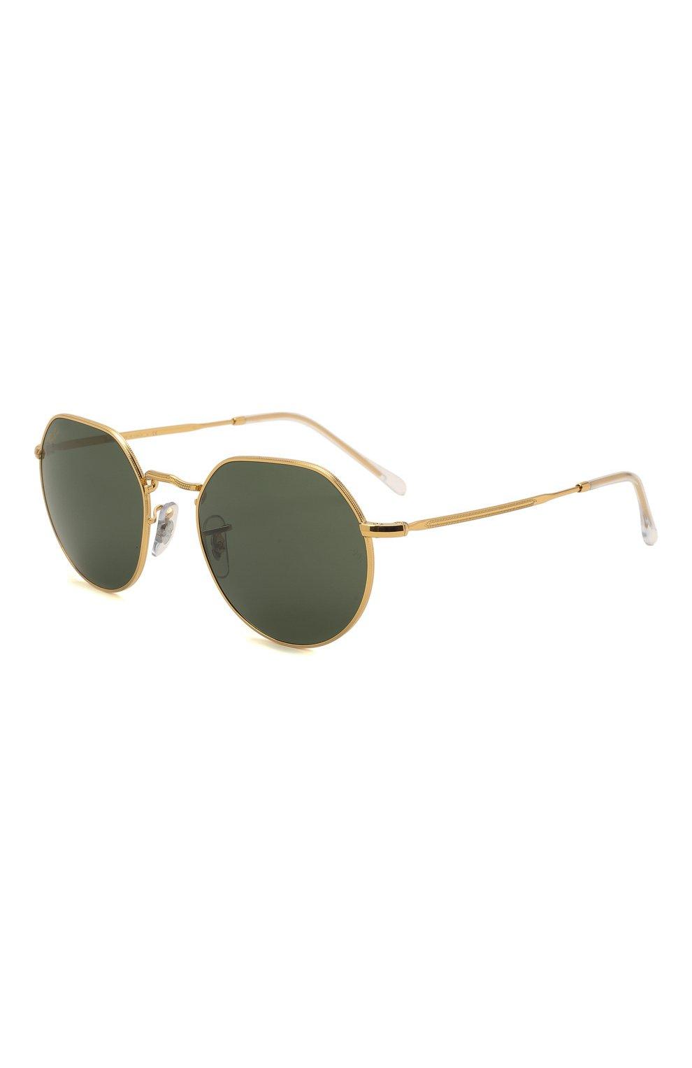 Женские солнцезащитные очки RAY-BAN золотого цвета, арт. 3565-919631   Фото 1