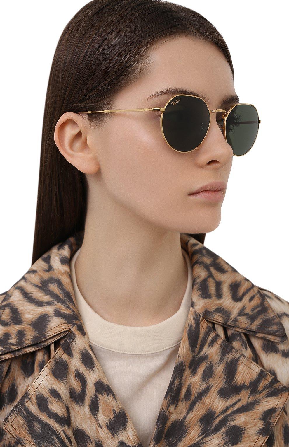 Женские солнцезащитные очки RAY-BAN золотого цвета, арт. 3565-919631 | Фото 2