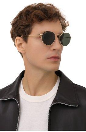 Женские солнцезащитные очки RAY-BAN золотого цвета, арт. 3565-919631   Фото 3