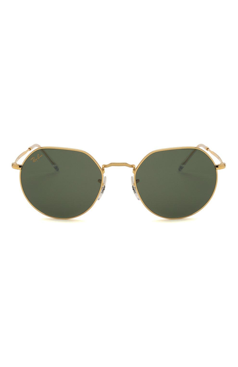 Женские солнцезащитные очки RAY-BAN золотого цвета, арт. 3565-919631   Фото 4