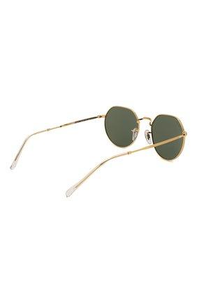 Женские солнцезащитные очки RAY-BAN золотого цвета, арт. 3565-919631   Фото 5