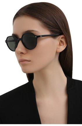Женские солнцезащитные очки RAY-BAN черного цвета, арт. 2195-901/31 | Фото 2