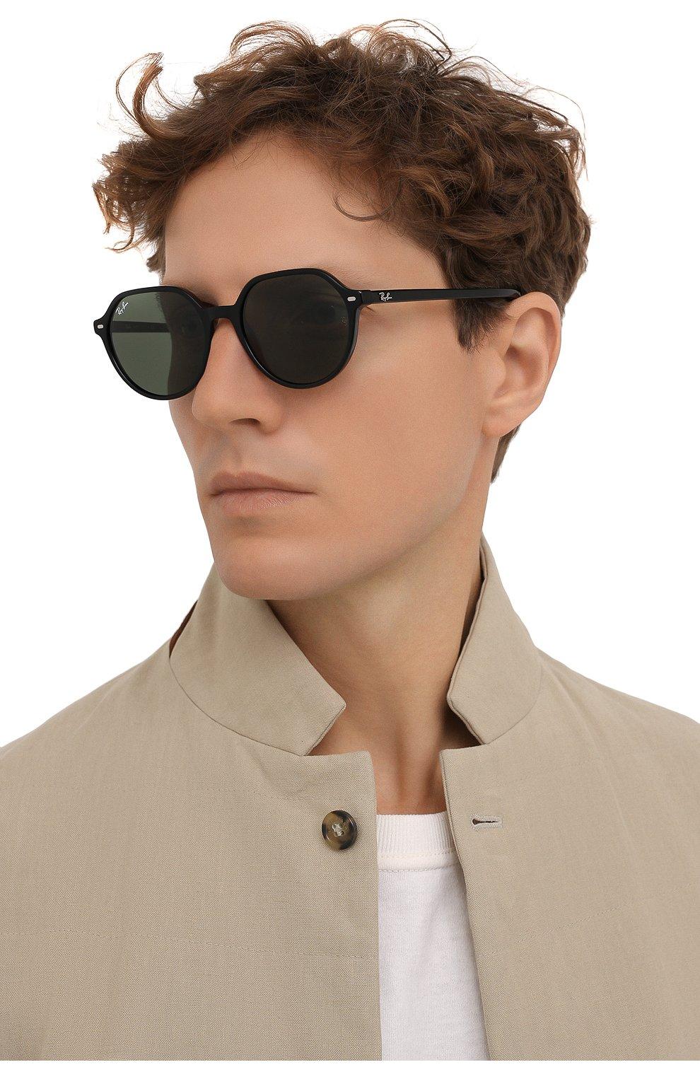 Женские солнцезащитные очки RAY-BAN черного цвета, арт. 2195-901/31 | Фото 3