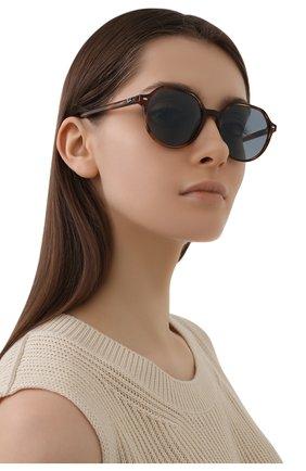 Женские солнцезащитные очки RAY-BAN коричневого цвета, арт. 2195-954/62 | Фото 2