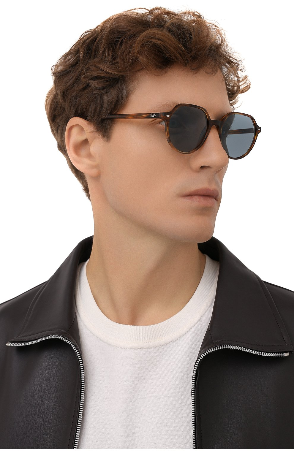 Женские солнцезащитные очки RAY-BAN коричневого цвета, арт. 2195-954/62 | Фото 3