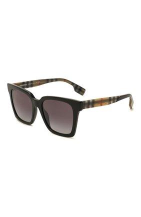 Женские солнцезащитные очки BURBERRY черного цвета, арт. 4335-39298G   Фото 1