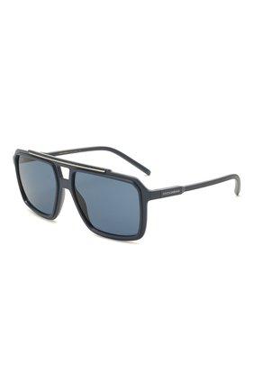 Мужские солнцезащитные очки DOLCE & GABBANA синего цвета, арт. 6147-329480 | Фото 1