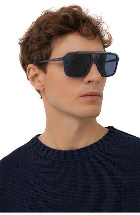 Мужские солнцезащитные очки DOLCE & GABBANA синего цвета, арт. 6147-329480 | Фото 2