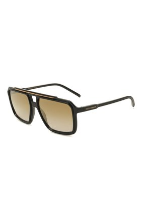 Мужские солнцезащитные очки DOLCE & GABBANA черного цвета, арт. 6147-501/6E | Фото 1