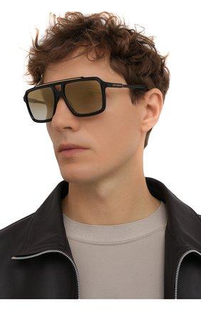 Мужские солнцезащитные очки DOLCE & GABBANA черного цвета, арт. 6147-501/6E | Фото 2