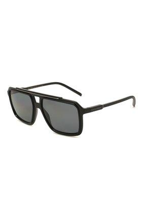 Мужские солнцезащитные очки DOLCE & GABBANA черного цвета, арт. 6147-501/81 | Фото 1