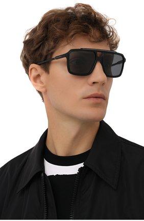 Мужские солнцезащитные очки DOLCE & GABBANA черного цвета, арт. 6147-501/81 | Фото 2