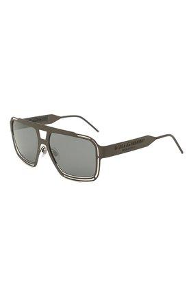 Мужские солнцезащитные очки DOLCE & GABBANA серого цвета, арт. 2270-13536G | Фото 1