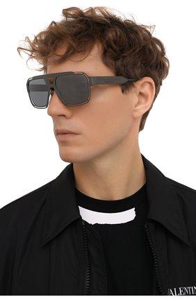 Мужские солнцезащитные очки DOLCE & GABBANA серого цвета, арт. 2270-13536G | Фото 2