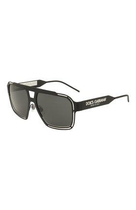 Мужские солнцезащитные очки DOLCE & GABBANA черного цвета, арт. 2270-327687 | Фото 1