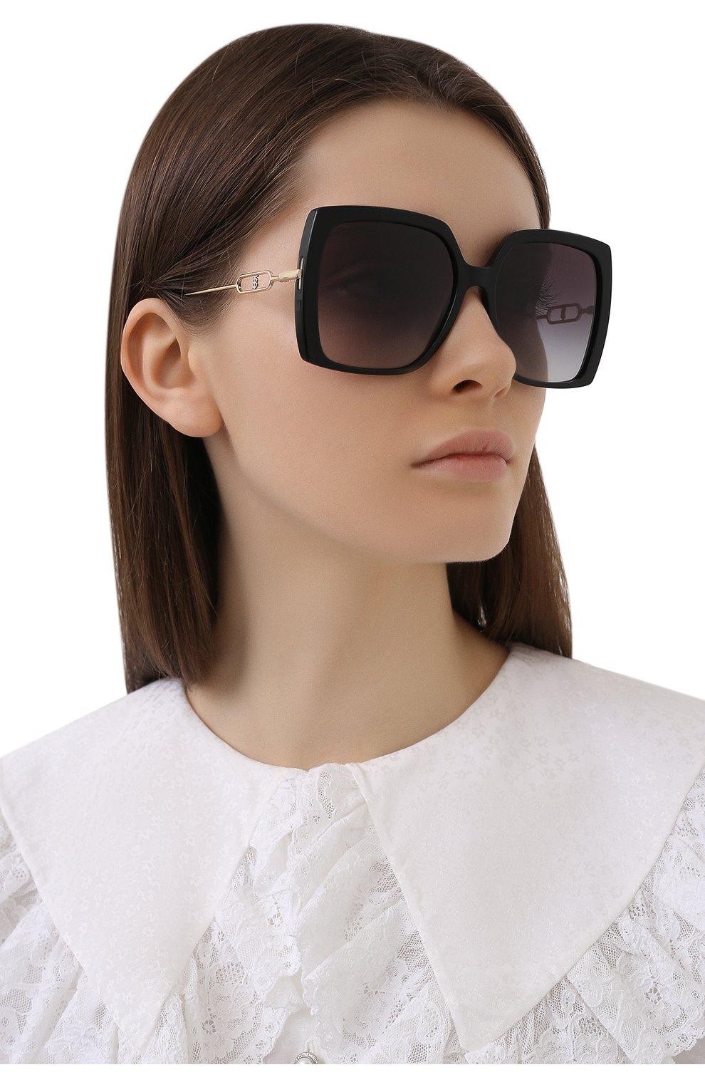 Женские солнцезащитные очки BURBERRY черного цвета, арт. 4332-30018G | Фото 2