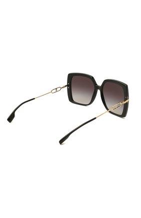 Женские солнцезащитные очки BURBERRY черного цвета, арт. 4332-30018G | Фото 4