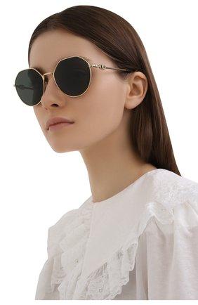 Женские солнцезащитные очки VALENTINO черного цвета, арт. 2043-300271   Фото 2