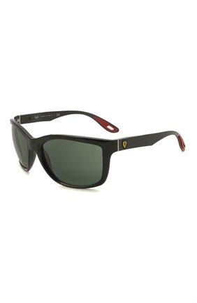 Мужские солнцезащитные очки RAY-BAN черного цвета, арт. 8356M-F63271 | Фото 1