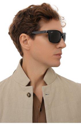 Мужские солнцезащитные очки RAY-BAN черного цвета, арт. 8356M-F63271 | Фото 2
