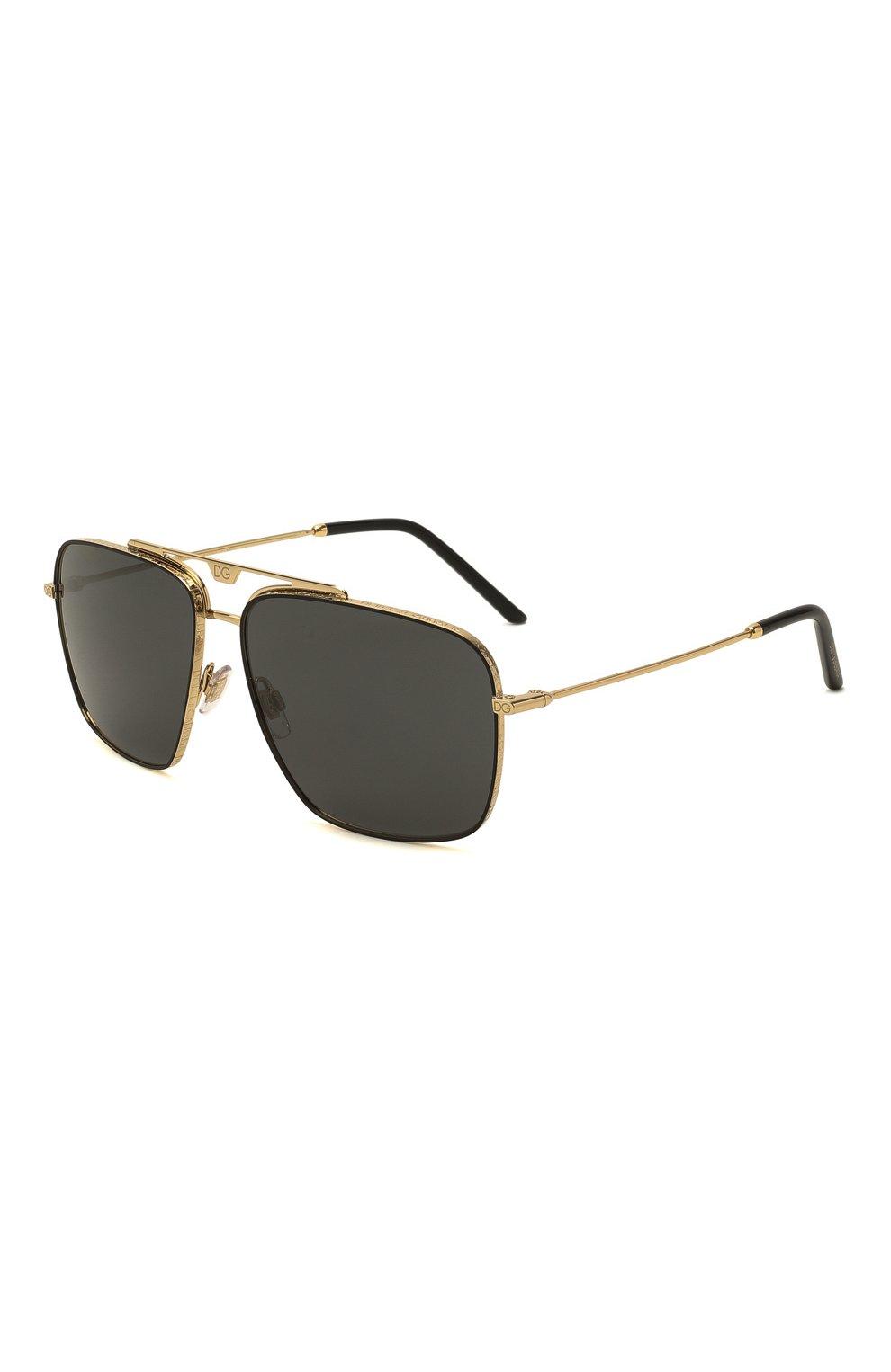 Мужские солнцезащитные очки DOLCE & GABBANA черного цвета, арт. 2264-02/87   Фото 1