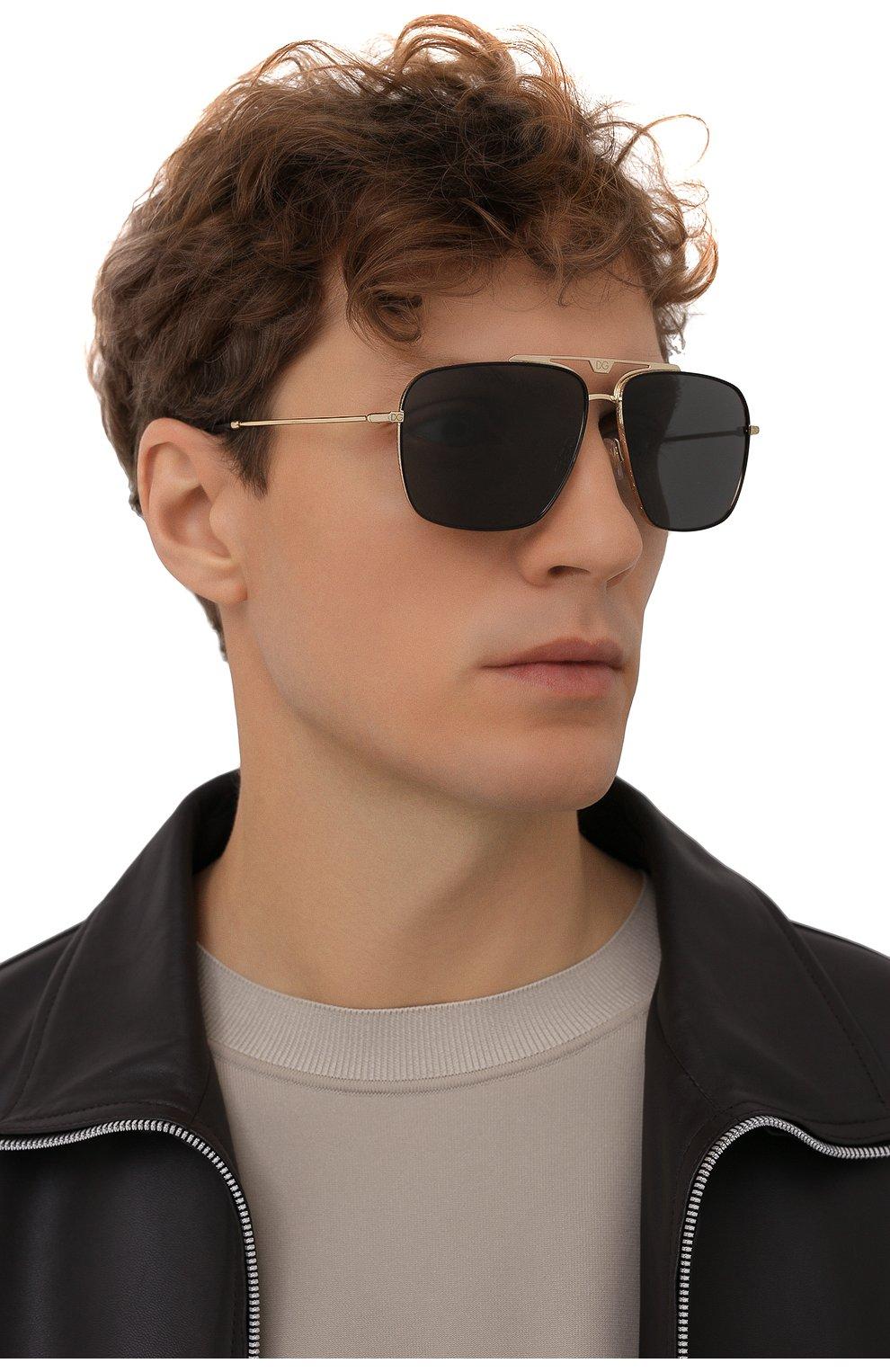 Мужские солнцезащитные очки DOLCE & GABBANA черного цвета, арт. 2264-02/87   Фото 2