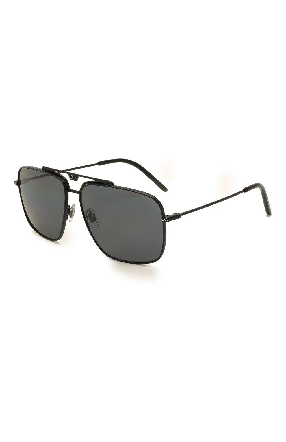 Мужские солнцезащитные очки DOLCE & GABBANA черного цвета, арт. 2264-110681 | Фото 1