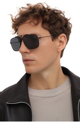 Мужские солнцезащитные очки DOLCE & GABBANA черного цвета, арт. 2264-110681 | Фото 2
