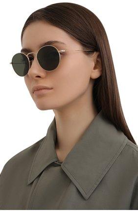Женские солнцезащитные очки OLIVER PEOPLES золотого цвета, арт. 1282ST-529252 | Фото 2