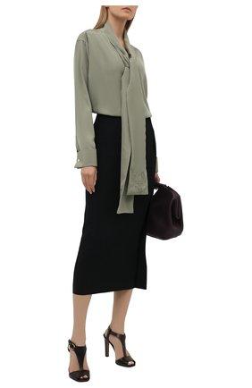 Женские кожаные босоножки emilie RALPH LAUREN темно-коричневого цвета, арт. 800841323 | Фото 2