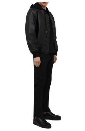 Мужские кожаные кеды louis junior spikes CHRISTIAN LOUBOUTIN черного цвета, арт. 1130573/L0UIS JUNI0R SPIKES FLAT | Фото 2