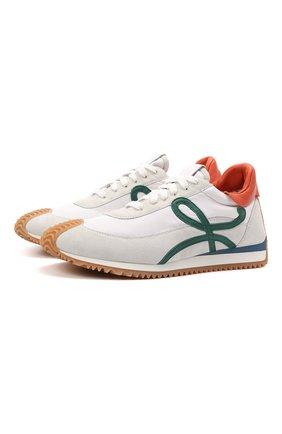 Мужские комбинированные кроссовки loewe x paula's ibiza LOEWE белого цвета, арт. M616282X11 | Фото 1