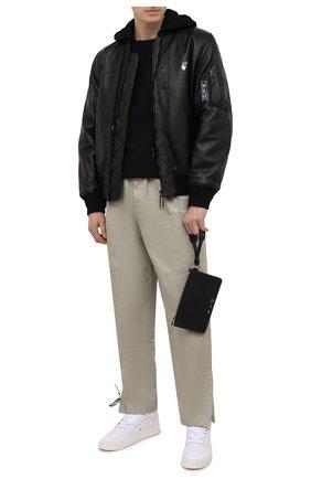 Мужской кожаный футляр для документов OFF-WHITE черного цвета, арт. 0MNM006S21LEA001 | Фото 2