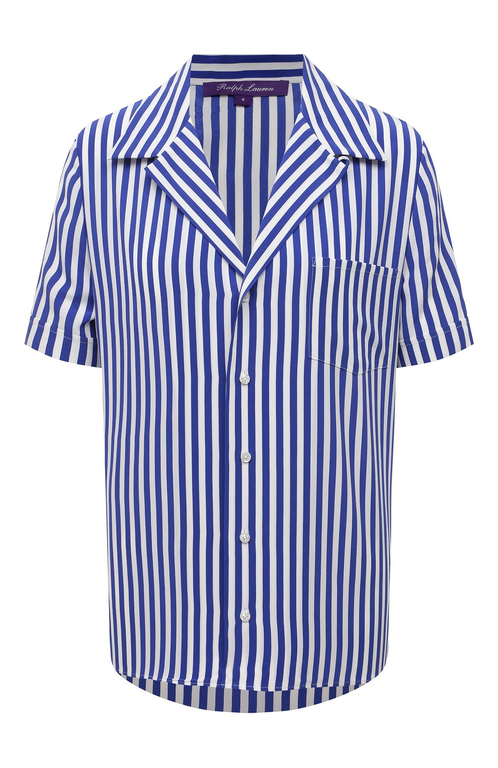 Женская шелковая рубашка RALPH LAUREN синего цвета, арт. 290840857 | Фото 1