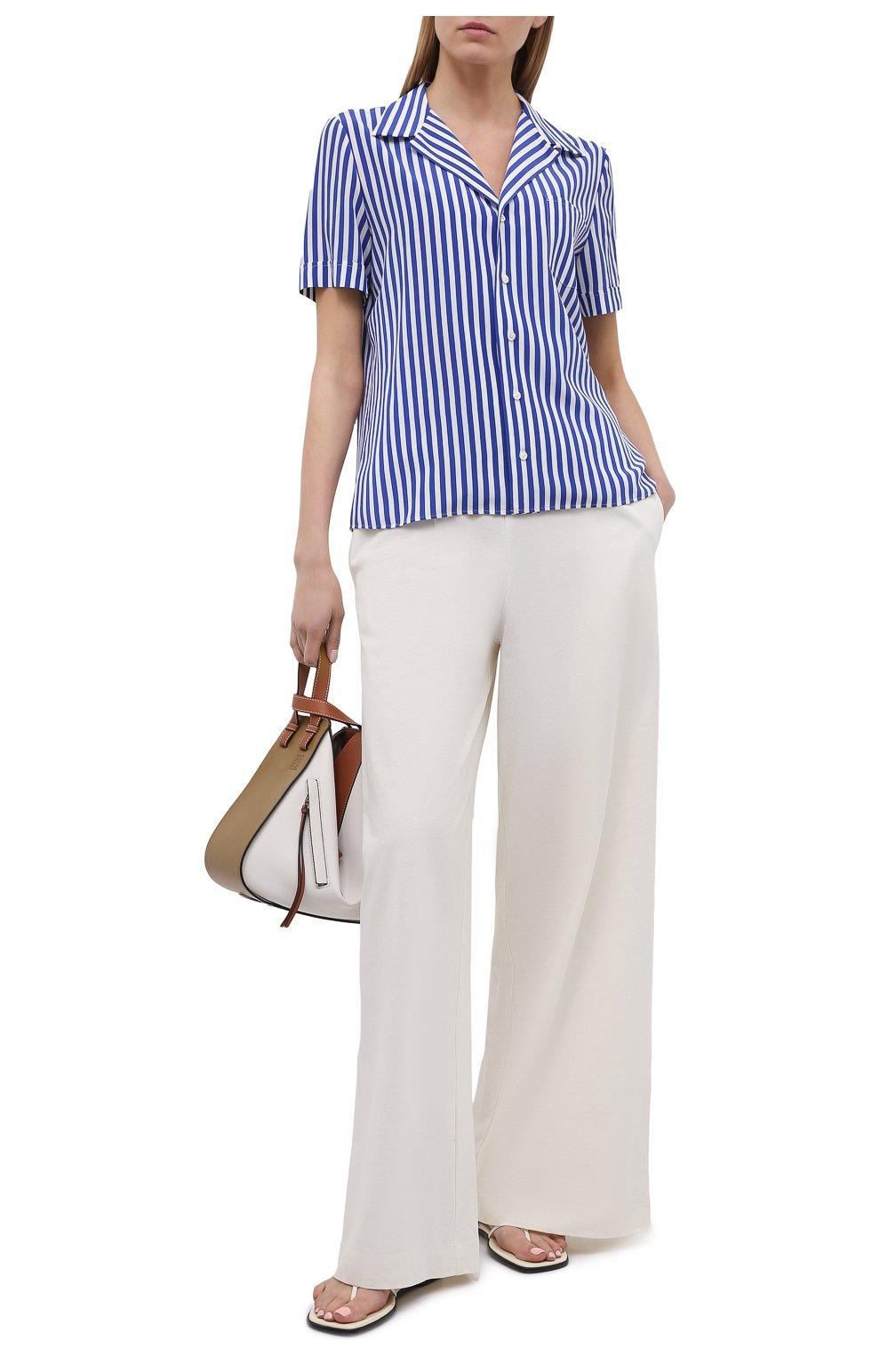 Женская шелковая рубашка RALPH LAUREN синего цвета, арт. 290840857 | Фото 2