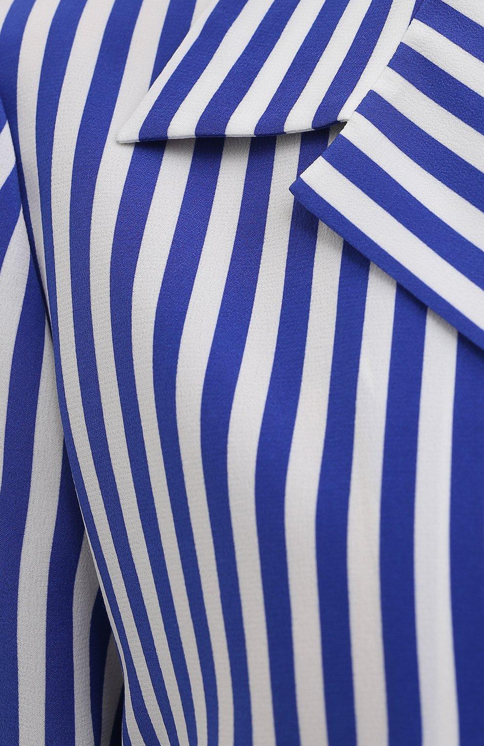 Женская шелковая рубашка RALPH LAUREN синего цвета, арт. 290840857 | Фото 5