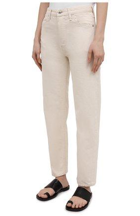 Женские джинсы JIL SANDER бежевого цвета, арт. JPPS663102-WS246500 | Фото 3